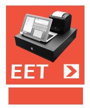 Pokladny na tabletu pro EET - Elektronickou evidenci tržeb.